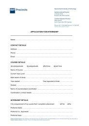 application form - QUT   Creative Industries Precinct