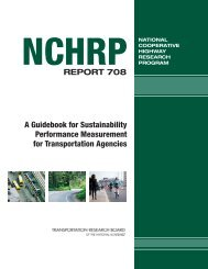 NCHRP Report 708 – A Guidebook for Sustainability ... - SSTI