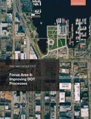 Focus Area 8: Improving DOT Processes - SSTI