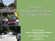Innovative Management Solutions To Transport Problems - SSTI