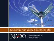Best Practices in Creating Strong Regional Economic ... - NADO.org