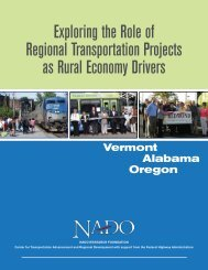 Exploring the Role of Regional Transportation Projects ... - NADO.org