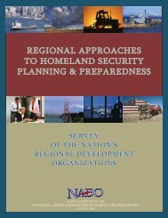 regional approaches to homeland security planning ... - NADO.org