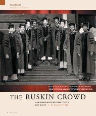 THE RUSKIN CROWD - Pitt Med - University of Pittsburgh