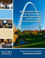 National Symposium for Rural Transportation Planning ... - NADO.org