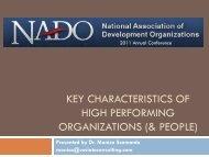Key Characteristics of High Performing Organizations (pdf) - NADO.org