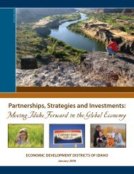 Partnerships, Strategies and Investments: Moving Idaho ... - NADO.org