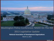 2013 NADO Legislative Update - NADO.org