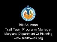 Bill Atkinson Trail Town Program® Manager www ... - NADO.org