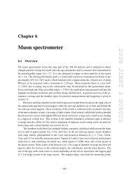 Muon spectrometer - jinst