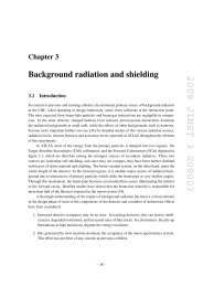Background radiation and shielding - jinst