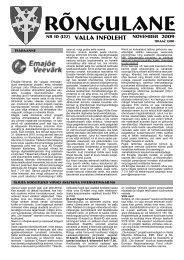 November 2009 - Rõngu Vald