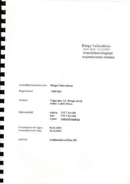 Majandusaasta aruanne 2010