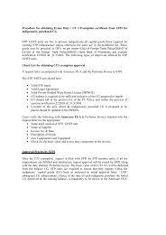 Procedure for CT3 Exemption