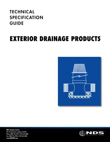 Tech Manual - Drainage Solutions, Inc.