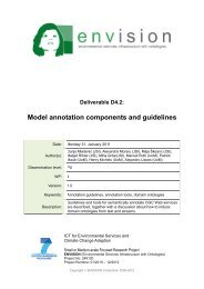 D4.2 - ENVISION – ENVIronmental Services Infrastructure with ...