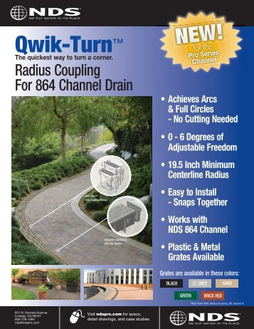 "5"" Pro Series Qwik-Turn Radius Coupling - Drainage Solutions, Inc."
