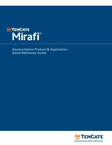 mirafi general product brochure - Drainage Solutions, Inc.