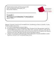 Versuch 4 : Messungen an technischen Verbrauchern - EIT Board