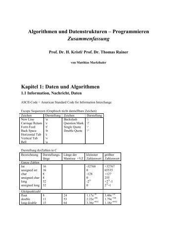 Algorithmen und Datenstrukturen – Programmieren ... - EIT Board