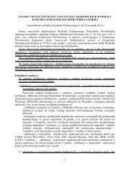 zasady i wytyczne oceny nauczycieli akademickich wydziału ...