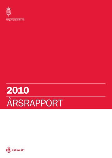 2010 ÅRSRAPPORT - Forsvarskommandoen