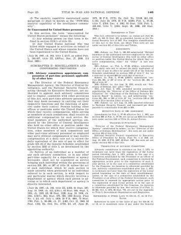 Page 125 TITLE 50—WAR AND NATIONAL DEFENSE § 405 (2 ...