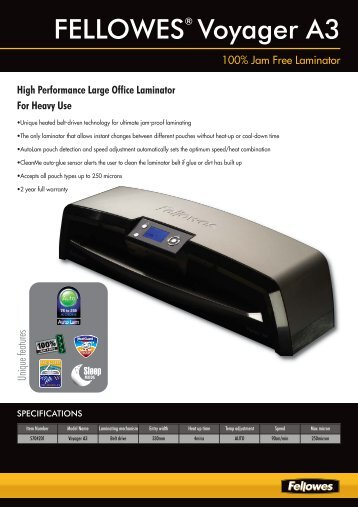 5400 Voyager Laminator Sell Sheet 2009-2010 Uk:layout 1