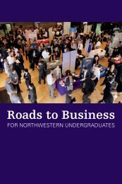 Roads to Business brochure - Weinberg College of Arts and Sciences
