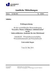 Prüfungsordnung - Südwestfälische Akademie für den Mittelstand