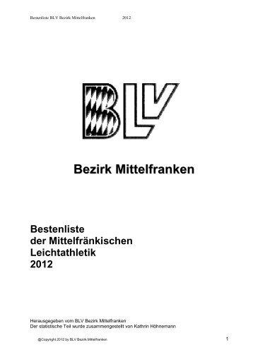 Bestenliste - BLV Mittelfranken