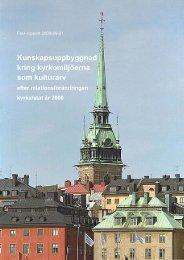 Kunskapsuppbyggnad kring kyrkomiljöerna som kulturarv