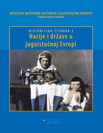 nastava moderne historije jugoistočne evrope - Center for ...