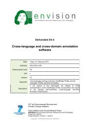 Cross-language and cross-domain annotation software - ENVISION ...