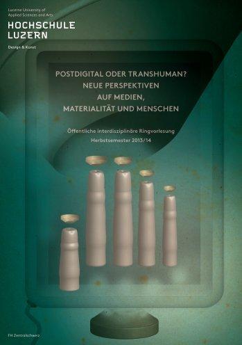 Flyer Interdisziplinäre Ringvorlesung - Hochschule Luzern