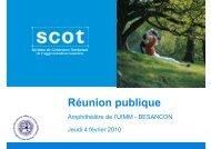 Réunion publique - SCoT de l'Agglomération Bisontine - Grand ...