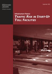 Traffic Risk in Start Up Toll Facilities (2002). - Infrastructure Australia