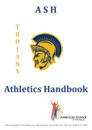 Athletic Handbook - American School of the Hague