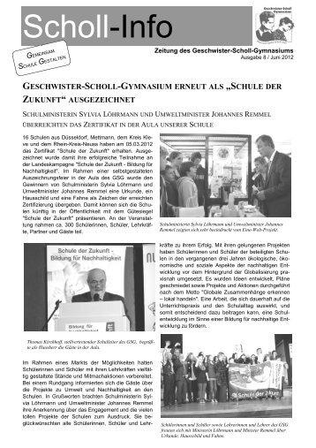 Scholl-Info Nr. 8 -  GSG Düsseldorf