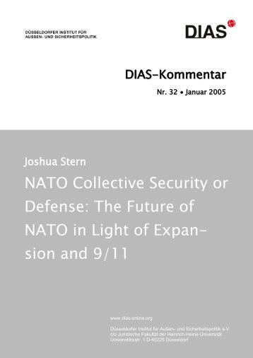 NATO Collective Security or Defense - DIAS - Düsseldorfer Institut ...