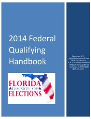 2014 federal qualifying handbook - Florida Division of Elections