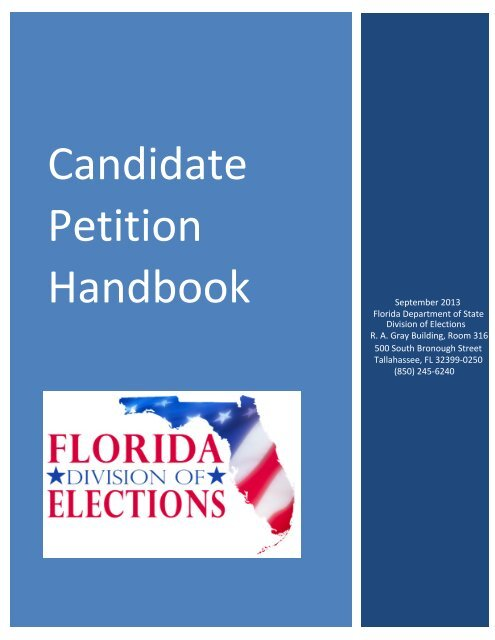 Candidate Petition Handbook - Florida Division of Elections