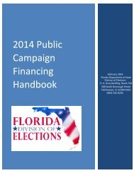 2014 Public Campaign Financing Handbook - Florida Division of ...