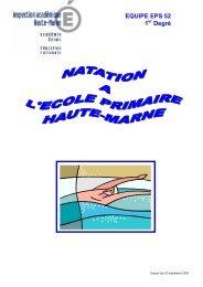 Natation à l'école primaire en Haute-Marne