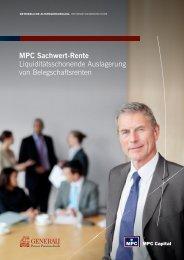 MPC Sachwert-rente Liquiditätsschonende ... - MPC Capital AG