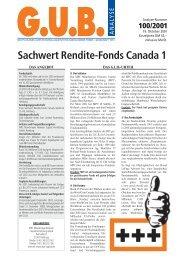 Sachwert Rendite-Fonds Canada 1