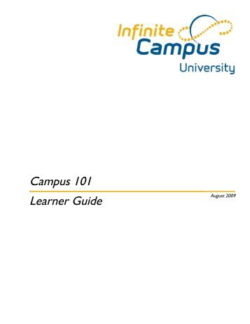 Campus 101 Learner Guide - East Side Union High School District