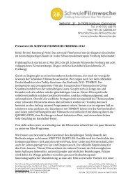 Pressetext 28. SCHWULE FILMWOCHE FREIBURG 2012