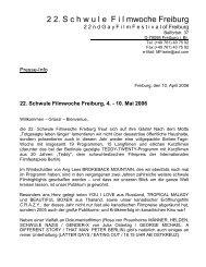 2 2. S c h w u l e F i l mwoche Freiburg