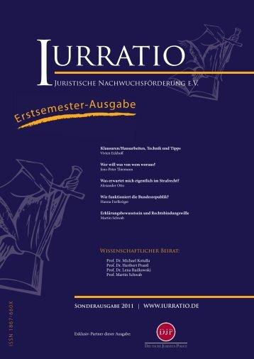 Erstsemester-Ausgabe - Iurratio